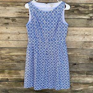 Tyler Boe | Blue White Fit & Flare Midi Dress 6